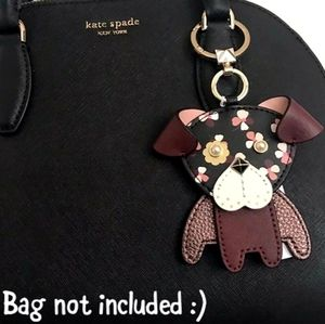 Kate Spade Pup Floral Keychain NWT